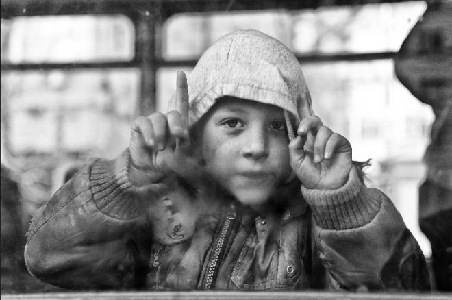 children in public transport
