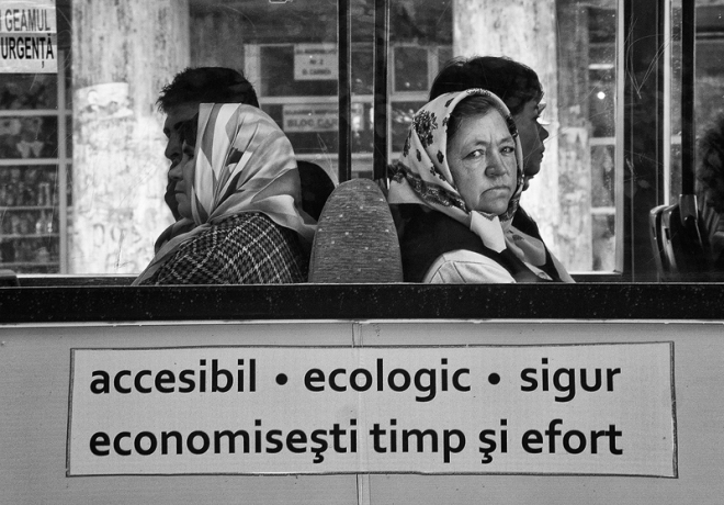 two woman in tram