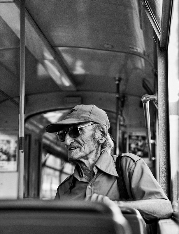 old man in bus